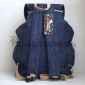Джинсовый рюкзак-мешок с аппликацией Birds Backpack Jeans Sack