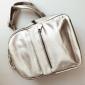 Серебряный кожаный женский рюкзак Backpack Silver Leather 2018