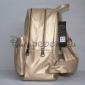 Золотой кожаный женский рюкзак Backpack Gold Leather 2018