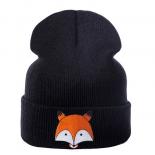 "Чёрная зимняя шапка ""Лиса"" Fox Winter Hat Black"