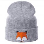 """Серая зимняя шапка """"Лиса"""" Fox Winter Hat Gray"""
