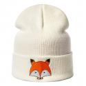 "Белая зимняя шапка ""Лиса"" Fox Winter Hat White"