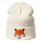"Белая зимняя шапка ""Лиса"" Fox Winter Hat White"