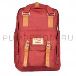 Бордовый рюкзак Doughnut Macaroon Backpack Dark Red
