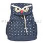 Синий рюкзак-мешок в горошек с Совой Owl Backpack Sack Dark Blue 2017 Dots