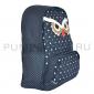 Синий рюкзак в горошек с Совой Owl Backpack Dark Blue 2017 Dots