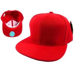 Красная бейсболка с прямым козырьком без логотипа No Logo Red Snapback