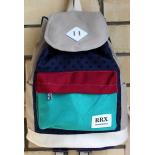 Песочно-голубой городской рюкзак-мешок RRX Backpack Sand Blue Dots