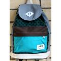 Серо-голубой городской рюкзак-мешок RRX Backpack Gray Green Blue Dots