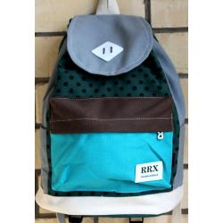 Серо-голубой городской рюкзак-мешок RRX Backpack Gray Green Blue