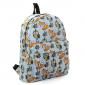 Голубой тканевый рюкзак с совами Backpack Owl Fox Light Blue
