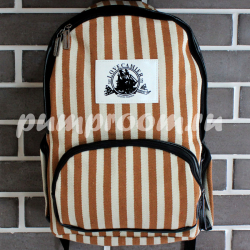 Коричневый полосатый рюкзак Love Camier Backpack Zebra Brown