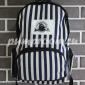 Синий полосатый рюкзак Love Camier Backpack Zebra Blue