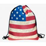 Рюкзак-мешок на завязках School Backpack Usa Flag