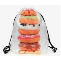 Рюкзак-мешок на завязках School Backpack Donut White