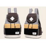 Коричнево-чёрный городской рюкзак-мешок RRX Backpack Brown Black Dots