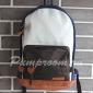 Молодёжный коричнево-синий рюкзак Casual canvas backpack Blue Brown