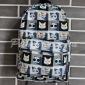 Серый/чёрный женский рюкзак с кошками Cat Face Backpack Black Gray