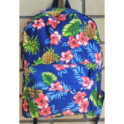 Синий рюкзак с ананасами Tropical Pineapple Backpack Blue
