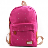 Молодёжный розовый рюкзак в горошек Backpack Polka Rose Red