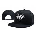 Чёрная бейсболка с прямым козырьком Diamond Snapback Silver Premium