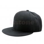 Черная бейсболка с прямым козырьком без логотипа No Logo Blank Black Snapback