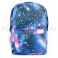Синий рюкзак с космическим принтом Backpack Galaxy Blue 2017