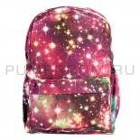 d5bb48502374 -44% Бордовый рюкзак с космическим принтом Backpack Galaxy Dark Red 2017