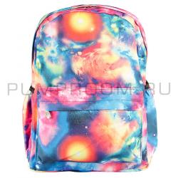 Разноцветный рюкзак с космическим принтом Backpack Galaxy MultiColor 2017