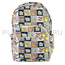 """Серый тканевый рюкзак """"Покемоны"""" Pokemon Backpack Gray"""