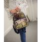 Чёрный/золотой женский рюкзак с блестками Backpack Gold Black Mini