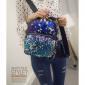 Синий/Фиолетовый женский рюкзак с блестками Backpack Blue Violet Mini