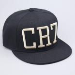Чёрная бейсболка с прямым козырьком Cristiano Ronaldo Snapback CR7
