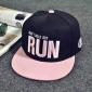Чёрная бейсболка с прямым козырьком Dont Walk but Run Snapback Black Pink