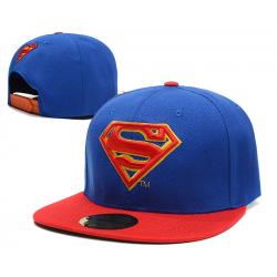 Красно-синяя бейсболка с прямым козырьком Superman Red Blue