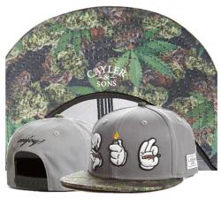 Серая бейсболка с прямым козырьком Cayler & Sons Snapback Marijuana