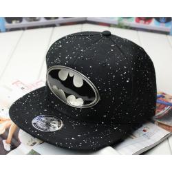 Чёрная бейсболка с прямым козырьком Batman Black Snapback Iron Logo
