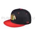 Чёрная/красная бейсболка с прямым козырьком Indians Snapback Black Red
