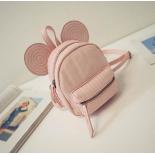 Розовый кожаный рюкзак Микки Маус Mickey Full Pink Mini Backpack Leather 2017