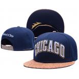 Синяя/пробковая бейсболка с прямым козырьком Chicago Snapback Blue 2017