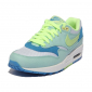 Женские голубо-салатовые кроссовки Nike Air Max 87 Womens Shoes Light Blue Volt