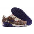 Цветочные фиолетовые женские кроссовки Nike Air Max 90 Flower Violet Limited 2015