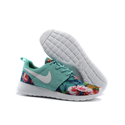 Мятные женские кроссовки Nike Roshe Mint Flower Limited