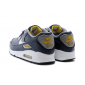 Синие кожаные мужские кроссовки Nike Air Max 90 Premium Man Blue Yellow
