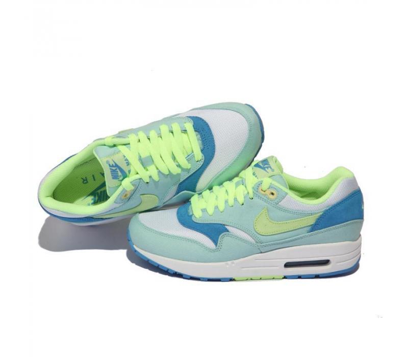 628b9720 Женские голубо-салатовые кроссовки Nike Air Max 87 Womens Shoes Light Blue  Volt