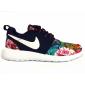 Синие женские кроссовки Nike Roshe Blue Flower Limited