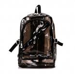 Чёрный силиконовый прозрачный рюкзак Black Transparent Silicone Backpack