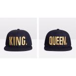 Набор из 2х бейсболок с прямым козырьком King and Queen Snapbacks Black Gold