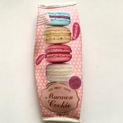 Розовая косметичка-пенал на молнии Macaron Cookie Pencilcase