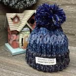 Синяя зимняя шапка с помпоном Beanie Sooner State Blue